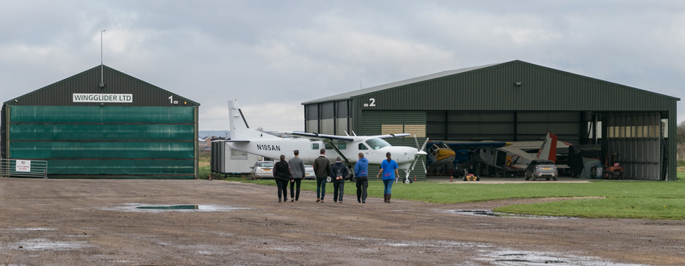 Skydive-Hibaldstow-Hangars-Exterior