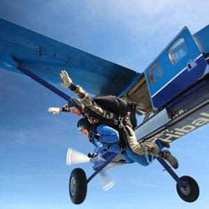 Kaylie Gooch makes a charity skydive